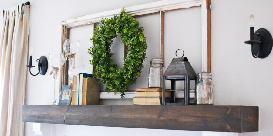 DIY Fireplace Makeover Before and After - Emily's Project List