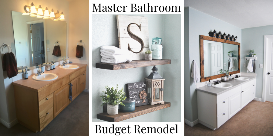 Master Bathroom Remodel On A Budget Emily S Project List