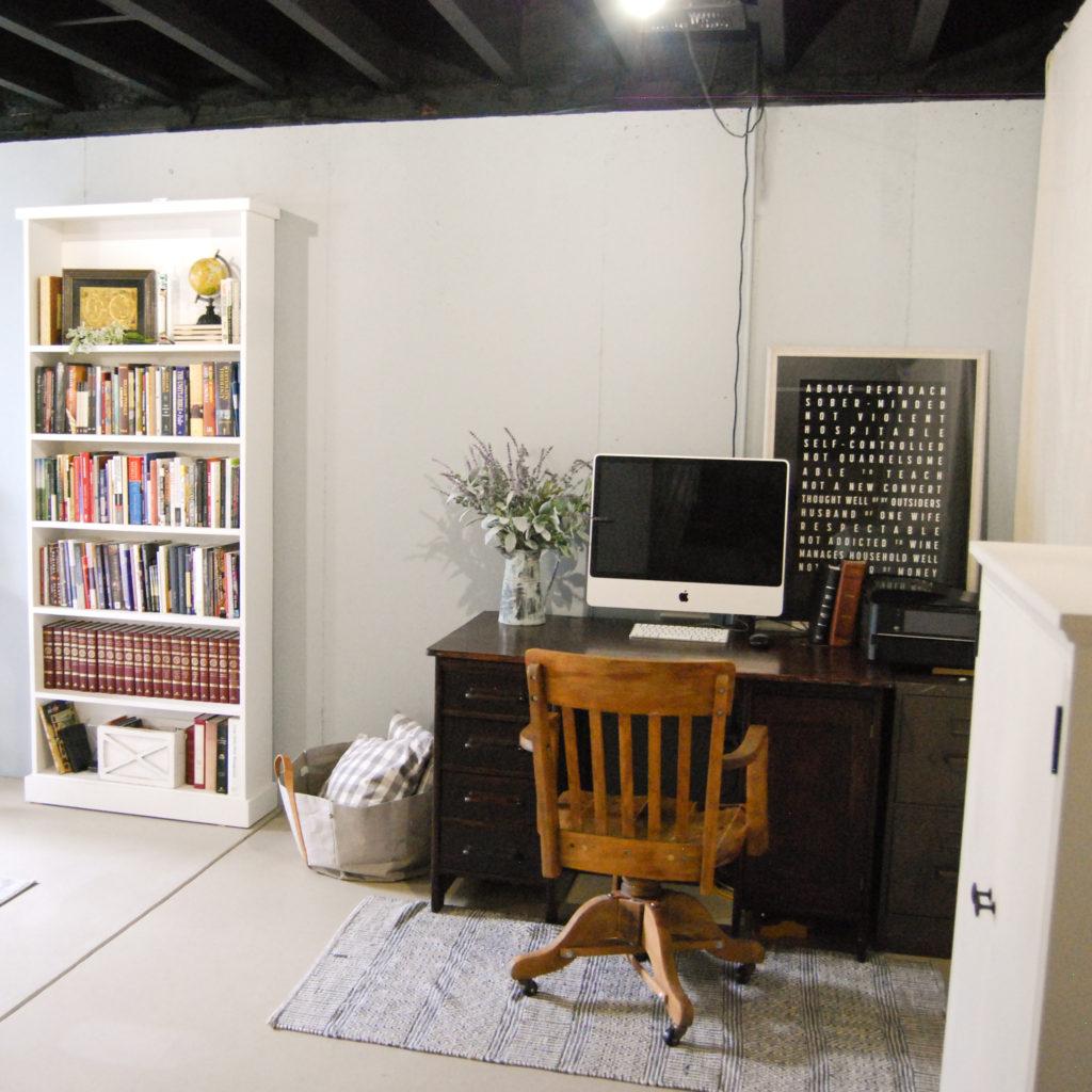 Basement Bedroom: Unfinished Basement Guest Bedroom